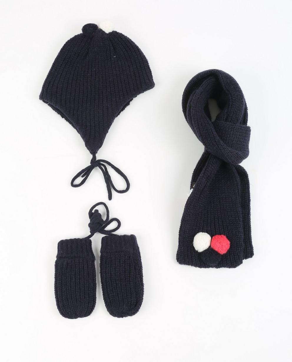 Muts, sjaal en wanten - in donkerblauw - JBC